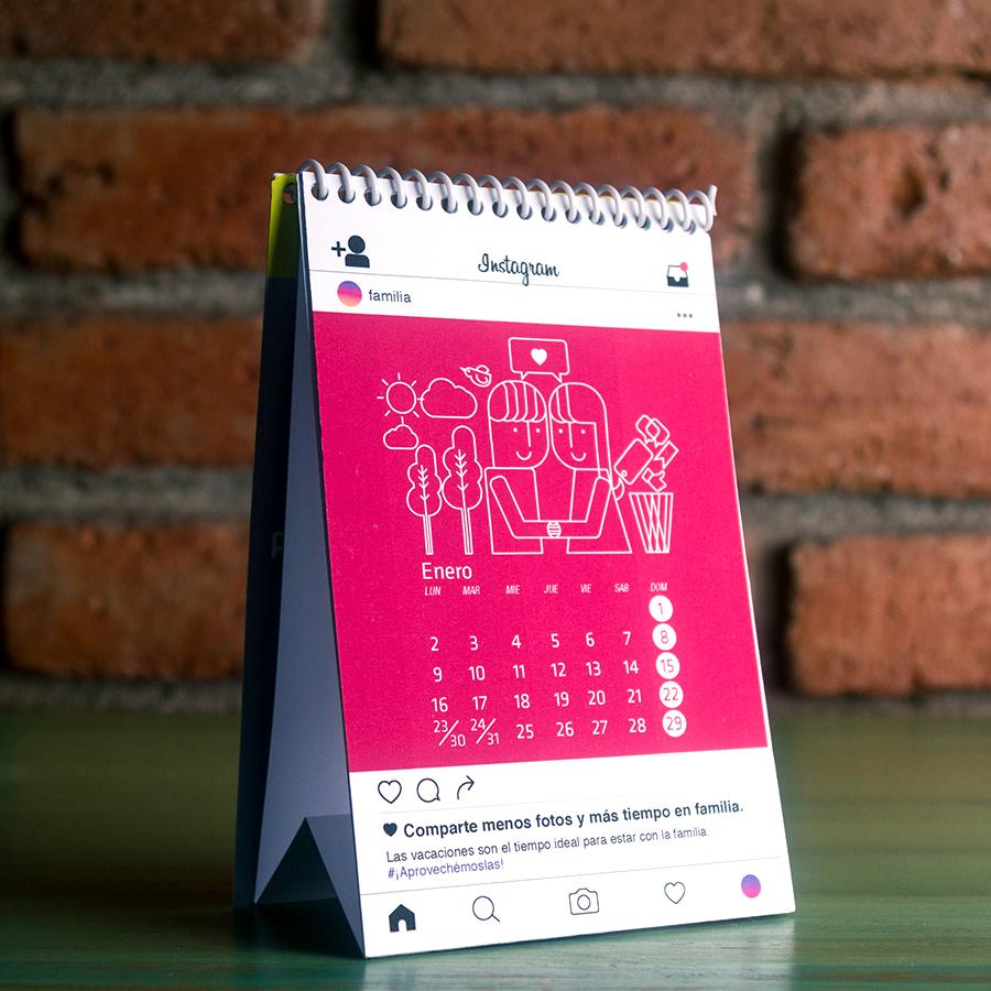 """Calendario""""Desconéctate para conectarte"""""""