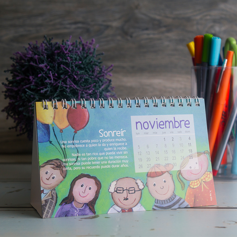 Calendario Crecer en Actitudes