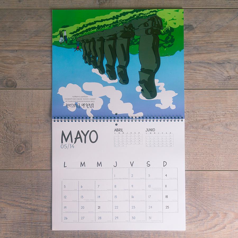 Calendario mural Chile Ilustrado